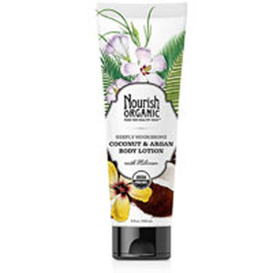 Deeply Nourishing Body Lotion 8 Oz, Coconut and Argan by Nourish (2588200730709)