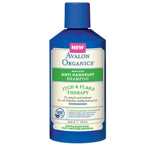 Anti-Dandruff Shampoo Itch & Flake Therapy 14 Oz, Itch & Flake Therapy by Avalon Organics (2590124867669)