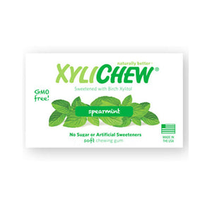 XyliChew Gum Jar Spearmint 60 Count by Xylichew
