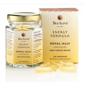 Royal Jelly Energy Formula 30 Caps by Bee Alive