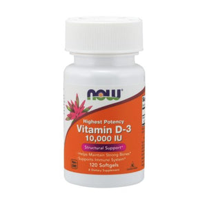 Vitamin D3 120 Softgels by Now Foods (2590115168341)