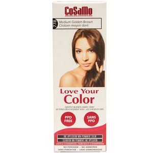 Cosamo Hair Color Medium Gold Brown 3 oz by Love Your Color