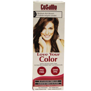 Cosamo Hair Color Medium Ash Brown 3 oz by Love Your Color