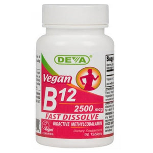 Vegan Sublingual B-12 90 Tabs by Deva Vegan Vitamins