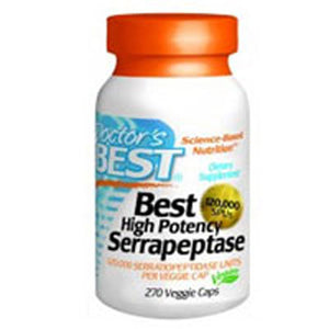 High Potency Serrapeptase 270 Veggie Caps by Doctors Best