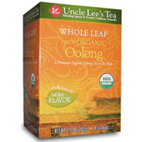 Whole Leaf 100% Organic Oolong Tea 18 Bags by Uncle Lees Teas