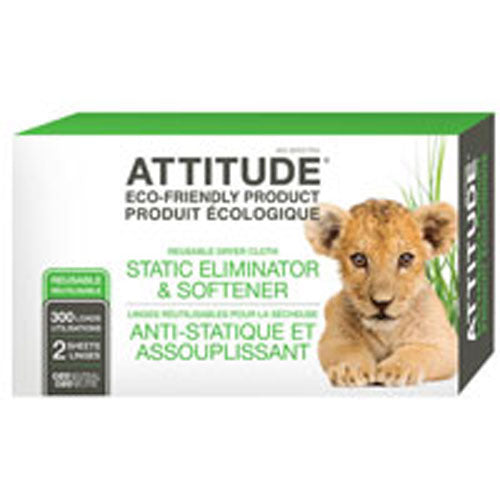 Anti-Static Eliminator Cloth Sheet 300 Load 2 Count by Attitude