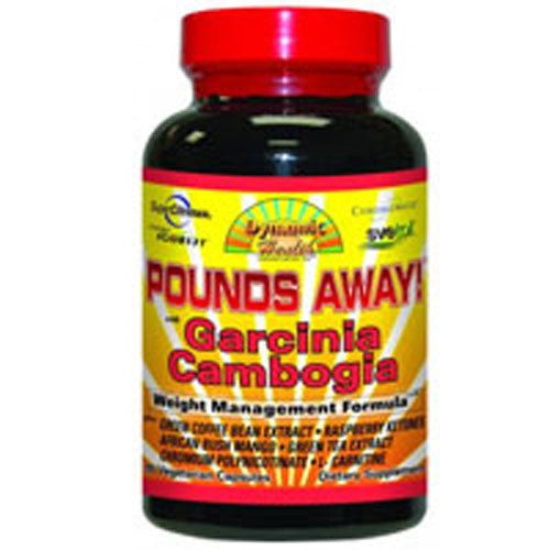Pounds Away with Garcinia Cambogia 90 Cap by Dynamic Health Laboratories