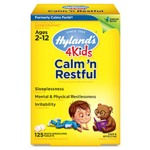 Calm 'n Restful 4 Kids 125 Tabs by Hylands (2587650883669)