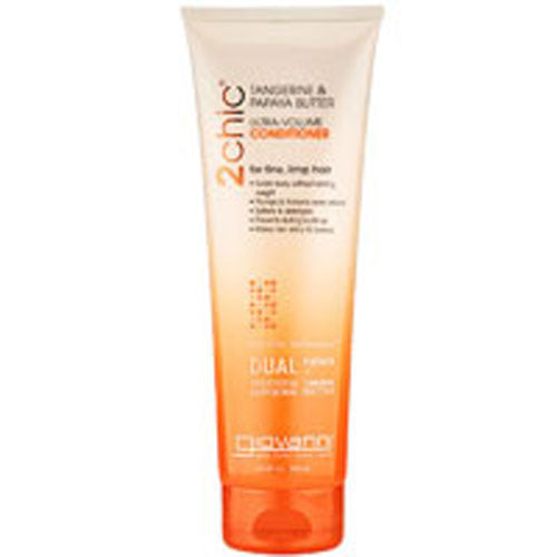 2chic Ultra Volume Tangerine and Papaya Butter Conditioner 24 oz by Giovanni Cosmetics