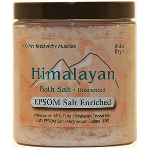 Bath Salt 40% Epsom 24 oz by Aloha Bay (2587650162773)