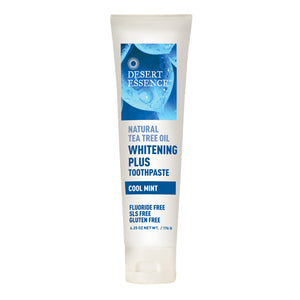 Tea Tree Oil Whitening Plus ToothPaste Cool Mint, 6.25 oz by Desert Essence