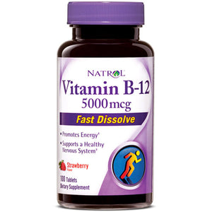 Vitamin B12 100 Tabs by Natrol (2587649474645)