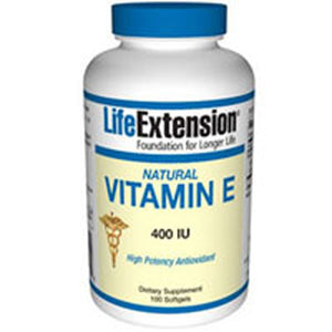 Natural Vitamin E 90 Sgels by Life Extension (2587648786517)