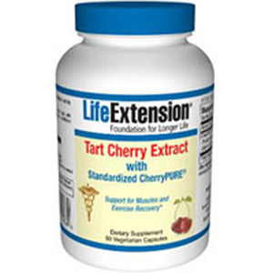 Tart Cherry Extract with Standardized Cherrypure 60 Caps by Life Extension (2587648524373)