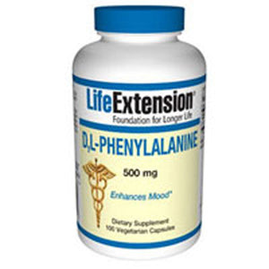 D - L-Phenyalanine 100 Vcaps by Life Extension (2587647574101)