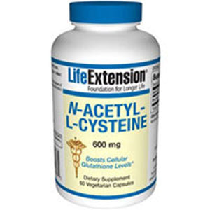 N-Acetyl-L-Cysteine 60 Vcaps by Life Extension (2587646722133)