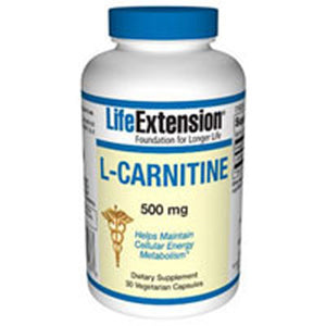L-Carnitine 30 Vcaps by Life Extension (2587646623829)