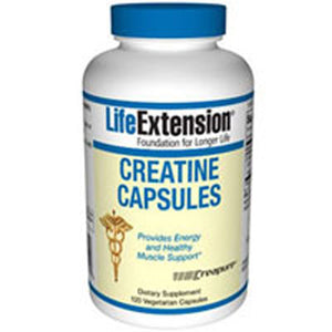Creatine Capsules 120 Vcaps by Life Extension (2587646492757)