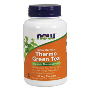 Thermo Green Tea 90 vcaps by Now Foods (2587644002389)