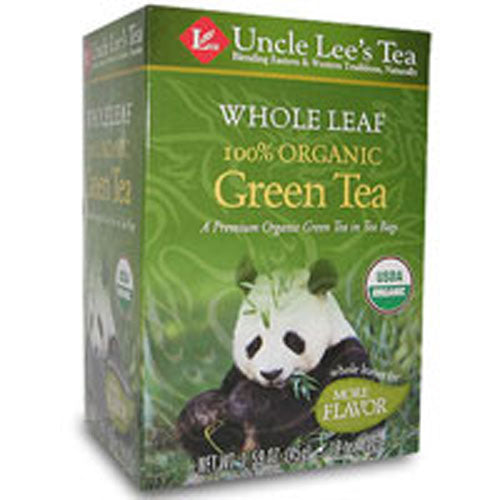 Organic Whole Leaf Green Tea 18 Bags by Uncle Lees Teas