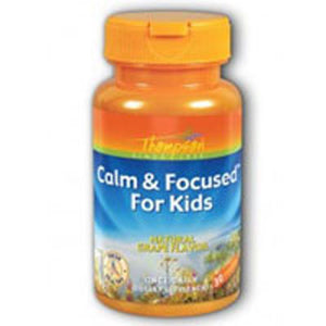 Calm and Focused For Kids Grape 30 Chewables by Thompson (2587641774165)