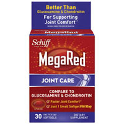 Mega Red Joint 30 Soft gels by Schiff/Bio Foods