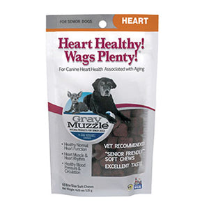 Gray Muzzle Heart Healthy! Wags Plenty! 60 Chews by Ark Naturals (2588155838549)