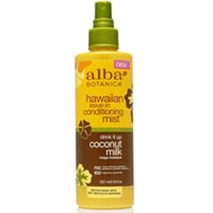 Hawaiian Drink It Up Leave - In Conditioning Mist Coconut Milk 8 oz by Alba Botanica