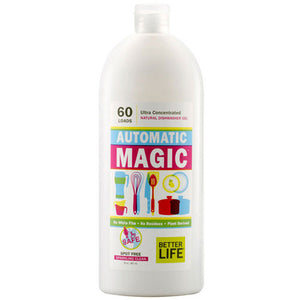 Natural Dishwasher Gel (ultra - concentrated) Automatic Magic 30 oz by Better Life (2588152823893)