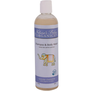 Shampoo and Body Wash Lavender Chamomile 12 oz by Nature's Baby Organics (2588150235221)