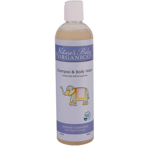 Shampoo and Body Wash Lavender Chamomile 12 oz by Nature's Baby Organics