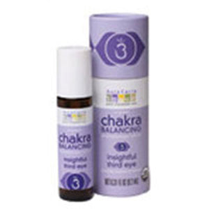 Chakra Balancing Aromatherapy Roll On Insightful Third Eye 0.31 oz by Aura Cacia