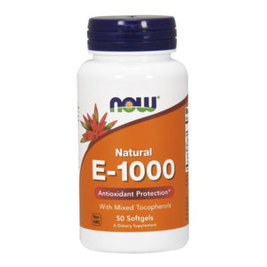 E-1000 - 100% Natural Mixed Tocopherols 50 SOFTGELS by Now Foods