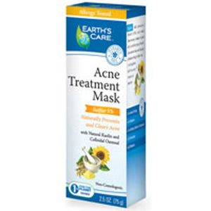 Acne Treatment Mask-5% Sulfer 2.5 OZ by Earth's Care (2587632402517)