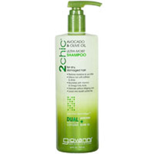 2chic Avocado and Olive Oil Ultra-Moist Shampoo 1.5 OZ by Giovanni Cosmetics