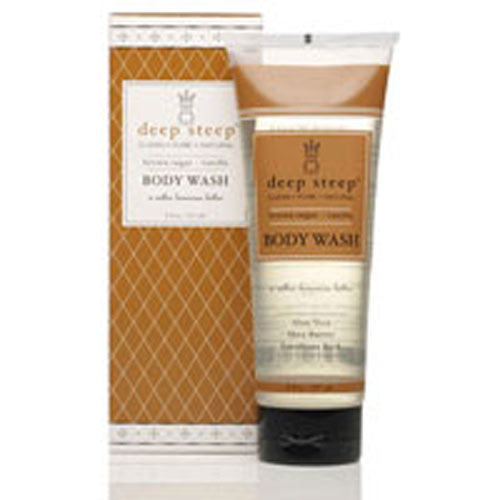 Body Wash Brown Sugar Vanilla 8 OZ by Deep Steep