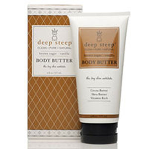 Body Butter Brown Sugar Vanilla 6 OZ by Deep Steep (2588139290709)