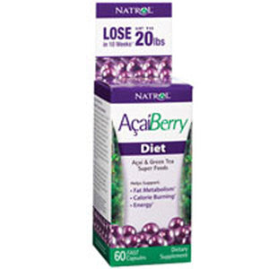 AcaiBerry Diet Super Foods 60 CAPS by Natrol (2587630043221)