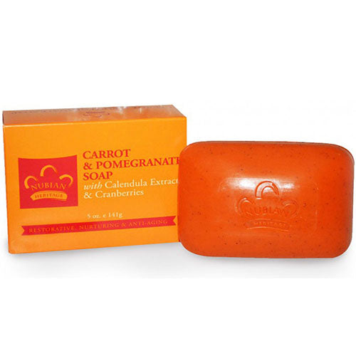 Bar Soap Carrot and Pomegranate 5 OZ by Nubian Heritage