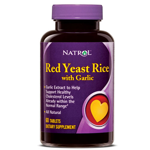 Red Yeast Rice with Garlic 60 TABS by Natrol