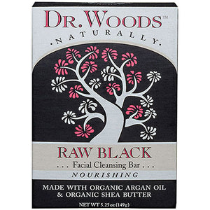 Face Cleansing Bar Raw Black 5.25 OZ by Dr.Woods Products