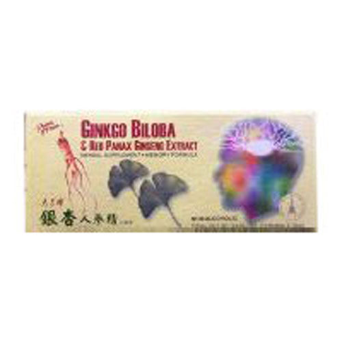 Ginkgo Biloba & Red Panax Ginseng Extract 10x10cc by Prince Of Peace