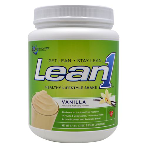 Lean1 Performance Shake Vanilla 1.7 lbs by NUTRITION 53