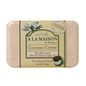 Bar Soap Coconut Creme, 8.8 oz by A La Maison (2587625848917)