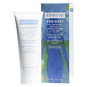Pro-gest Cream 4 Oz, Paraben Free by Emerita