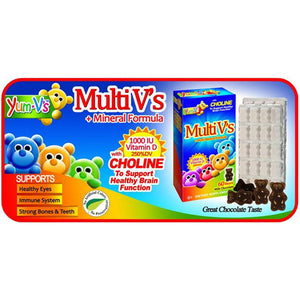 Multi-V Plus Multi-Mineral Fornula Milk Chocolate 60 Chews by Dulce Probiotics