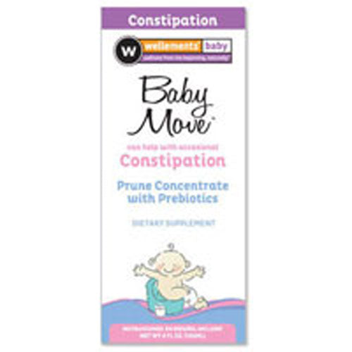 Baby Move Prune Concentrate with Prebiotics 4 oz by Wellements