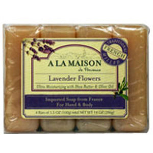 Bar Soap Value Pack Lavender Flowers 4 CT by A La Maison (2587624800341)