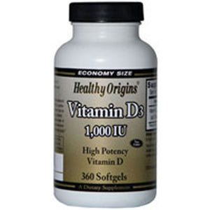 Vitamin D3 360 Soft Gels by Healthy Origins (2587622899797)